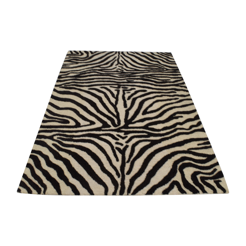 Bashian Zebra Print Area Rug sale