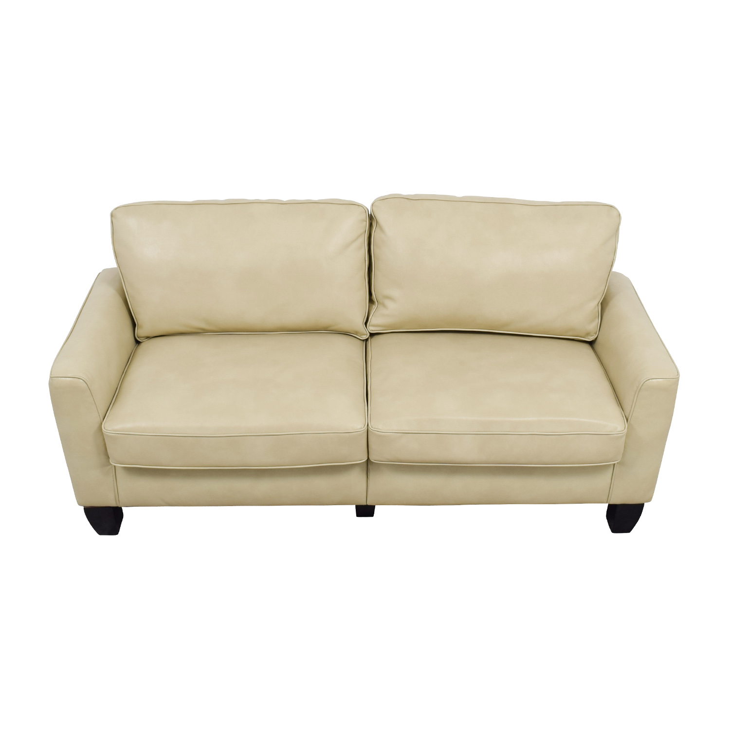 Serta Serta Astoria Coated Fabric Sofa in Cannoli Cream on sale