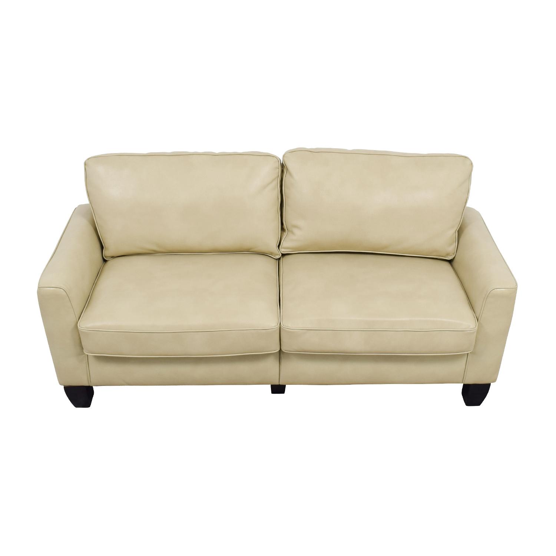Serta Serta Astoria Coated Fabric Sofa in Cannoli Cream dimensions