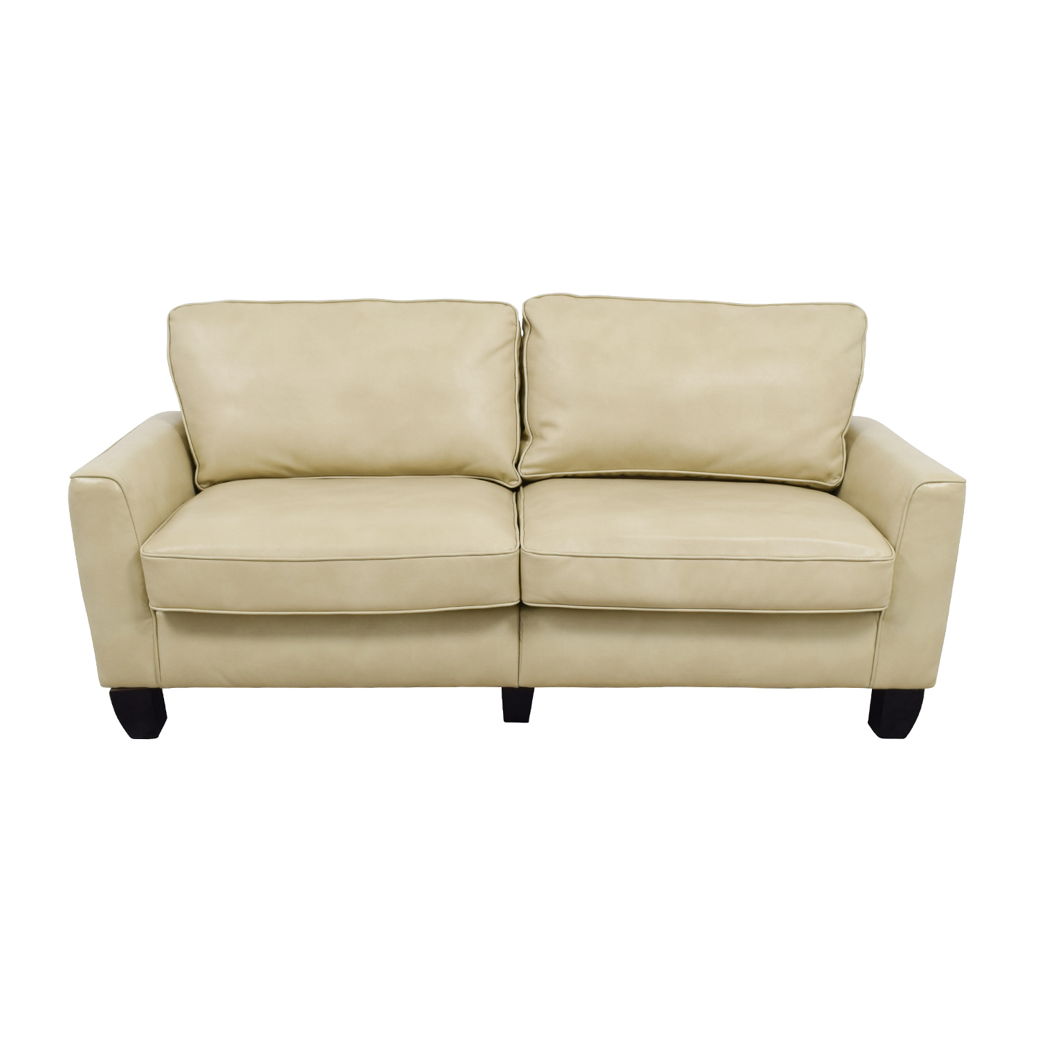 buy Serta Astoria Coated Fabric Sofa in Cannoli Cream Serta Sofas