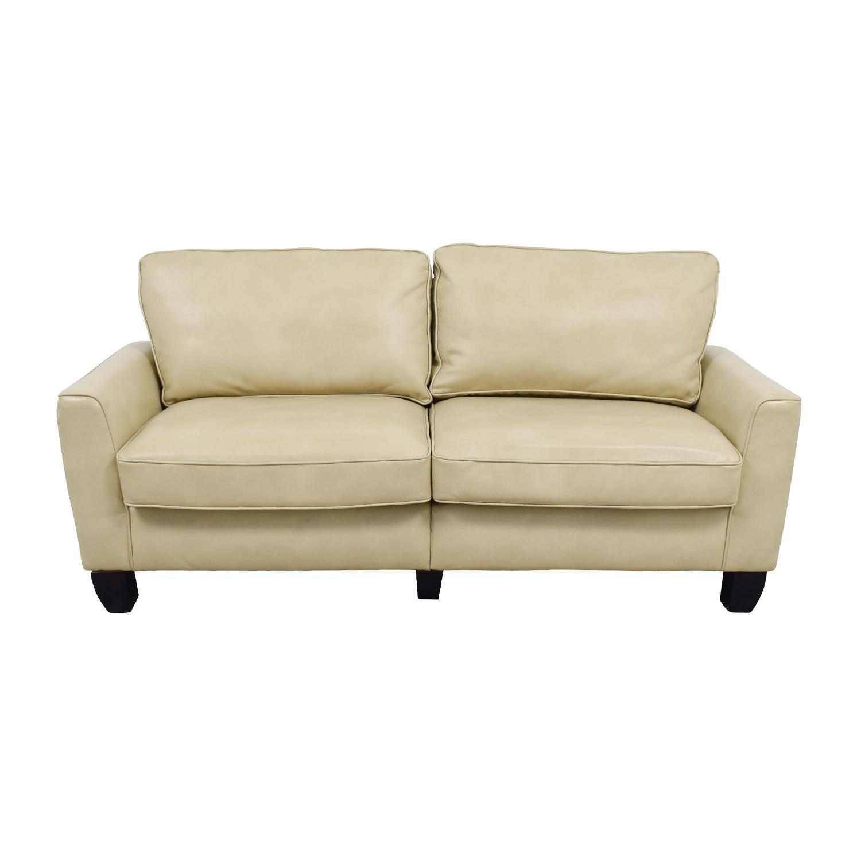 Serta Serta Astoria Coated Fabric Sofa in Cannoli Cream biege