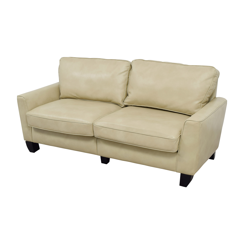 Serta Serta Astoria Coated Fabric Sofa in Cannoli Cream nyc