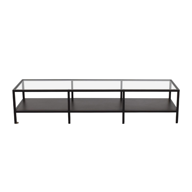 shop IKEA IKEA Metal Glass Coffee Table Media Unit online