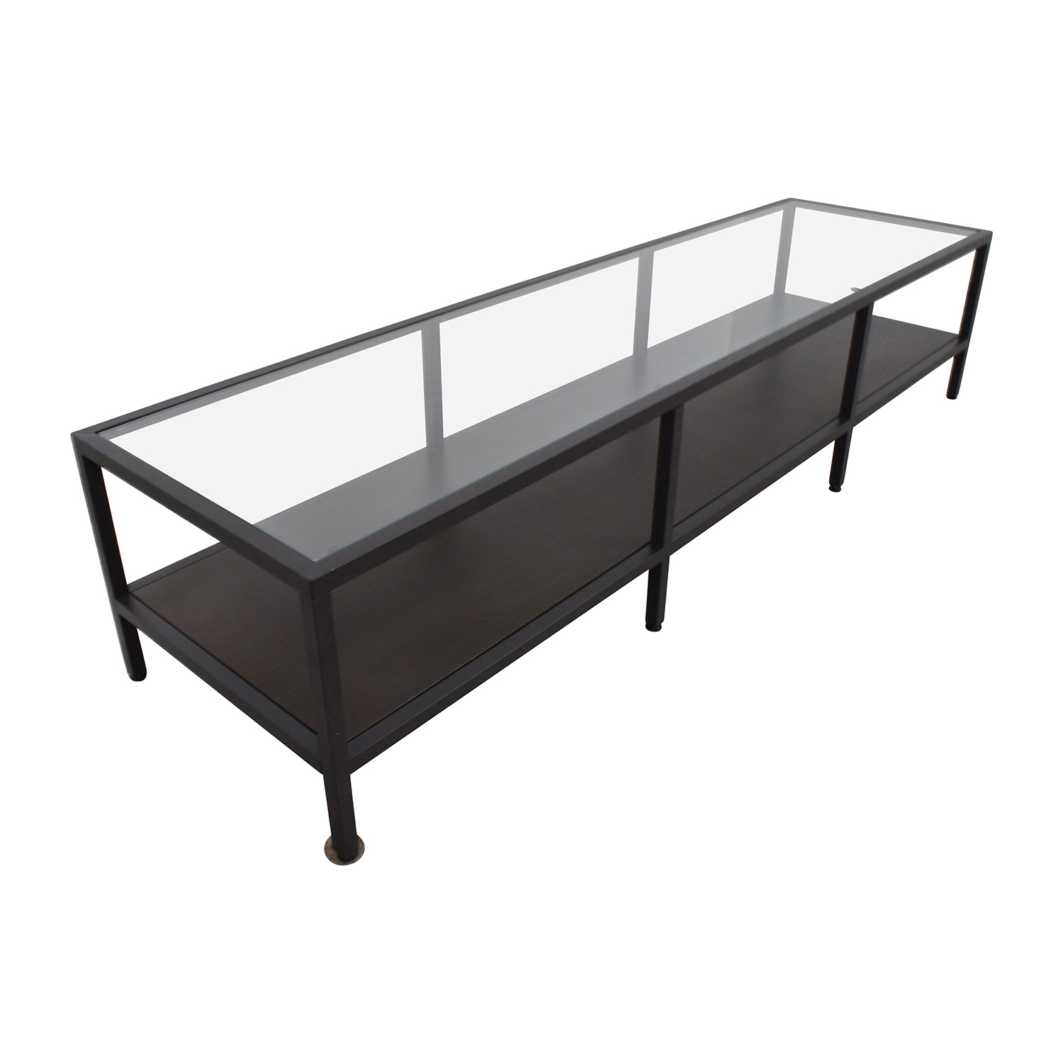 30 off ikea ikea metal glass coffee table media unit for Ikea glass table tops