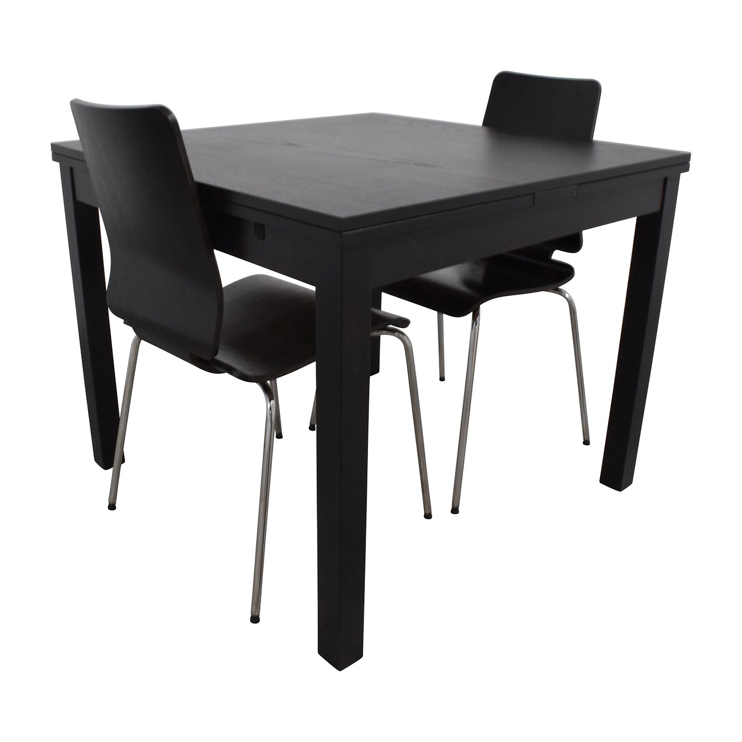 70 off ikea ikea three piece dining set in black tables for Ikea dining table and chairs set