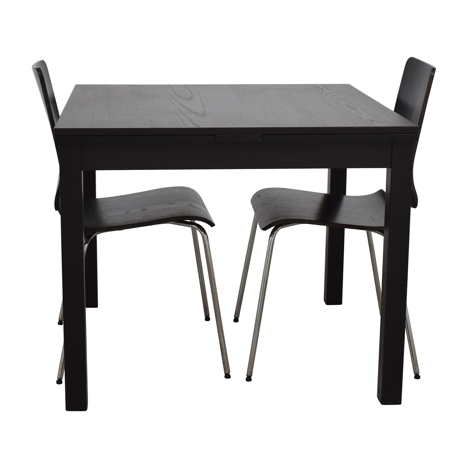 70 off ikea ikea three piece dining set in black tables for Black dining table set