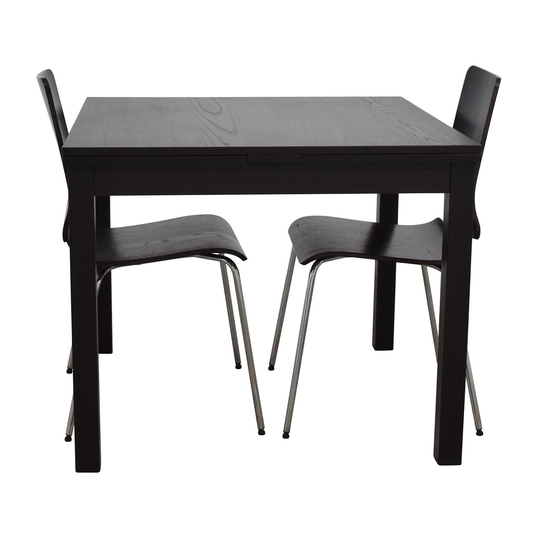 shop IKEA Three-Piece Dining Set in Black IKEA Tables