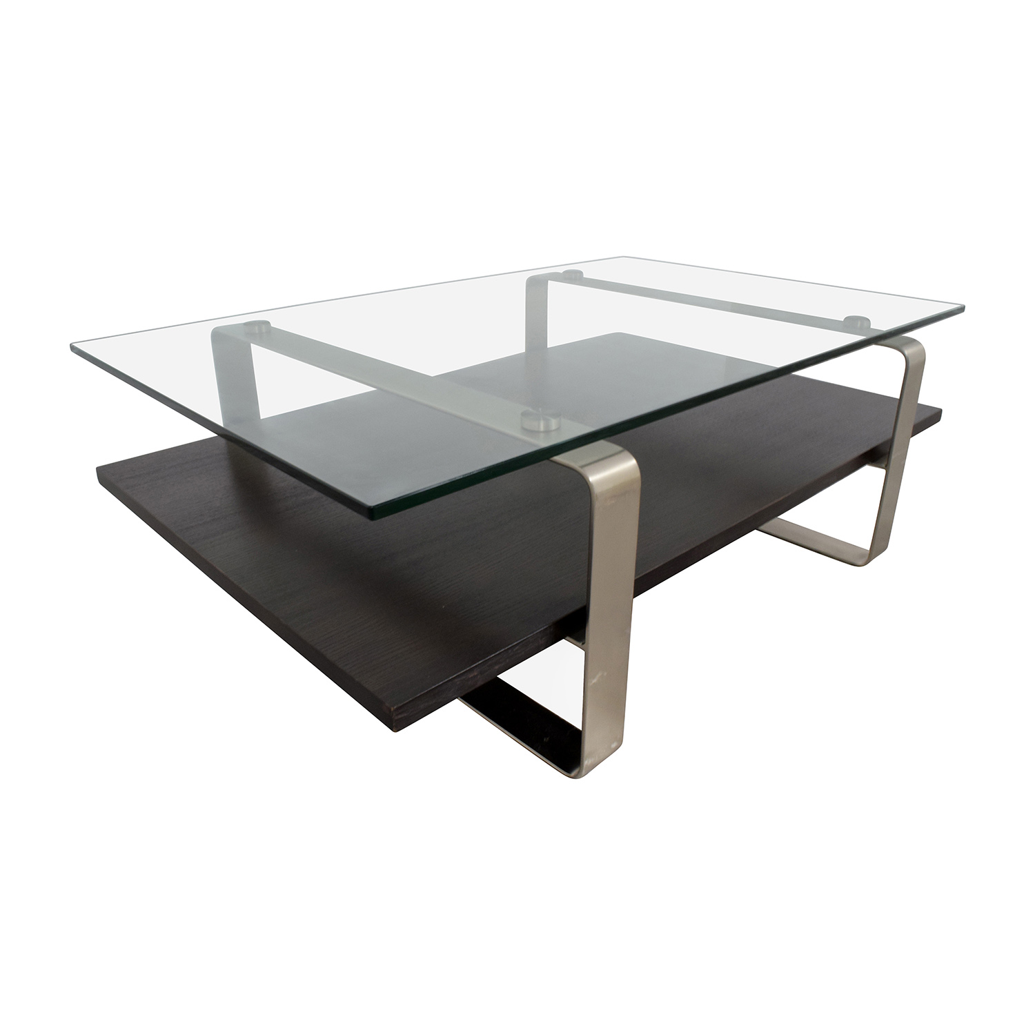 buy Glass Top and Wood and Metal Base Coffee Table Coffee Tables