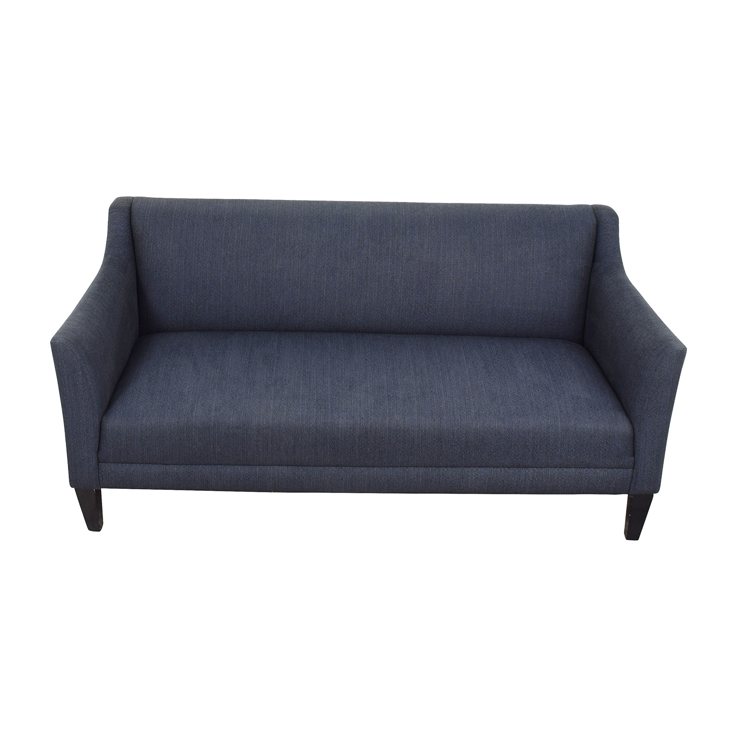 Crate Barrel Navy Blue Single Cushion Couch