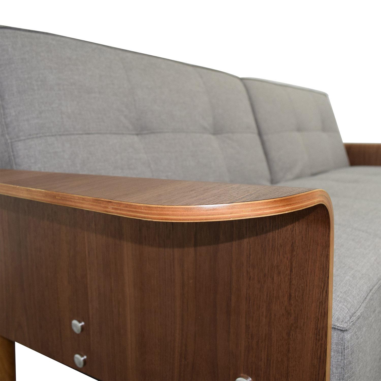 shop InMod InMod Bjorg Tufted Light Grey Sofabed online