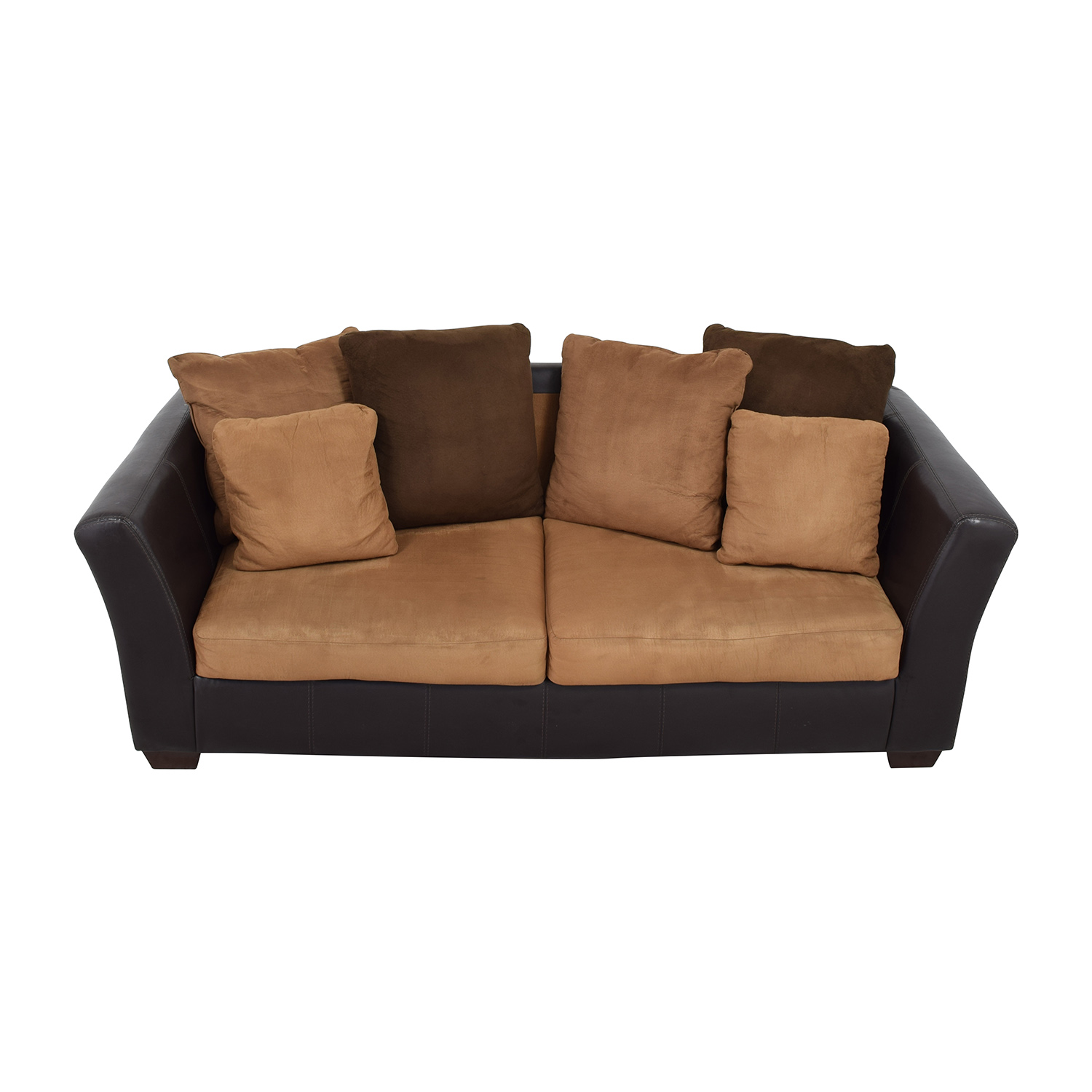 buy Ashley Furniture Sofa with Brown Throw Pillows Ashley Furniture Sofas