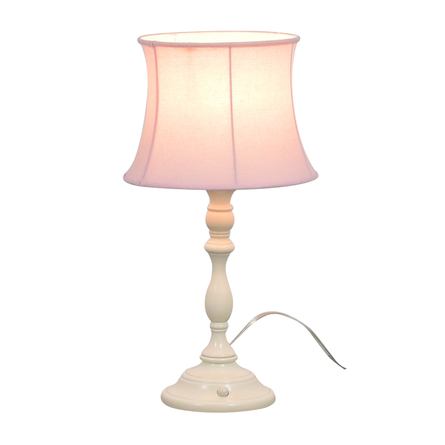 Pottery Barn Pottery Barn Payton Push Button Base with Pink Lamp Shade for sale
