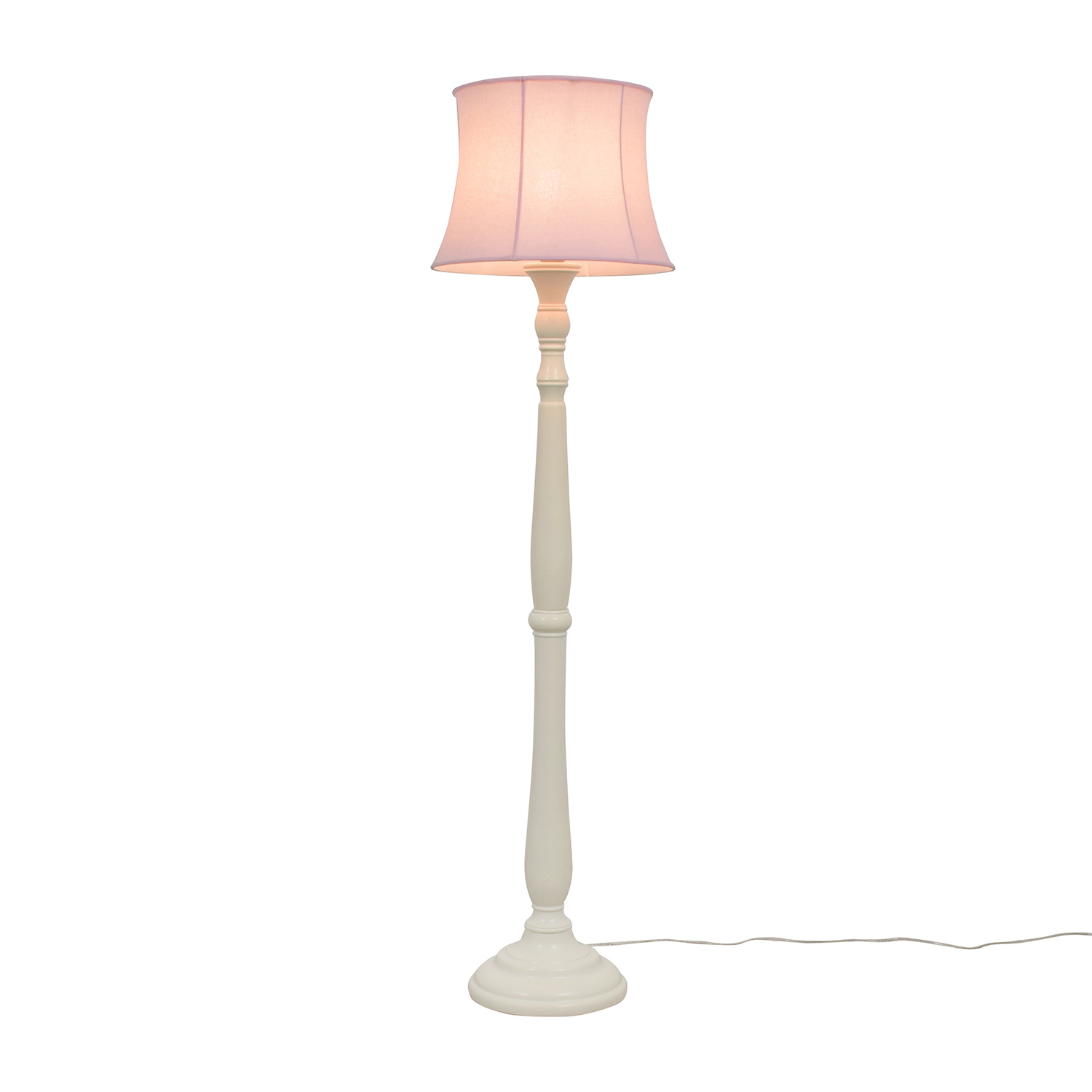 Pottery Barn Payton Floor Base Lamp with Pink Shade Pottery Barn