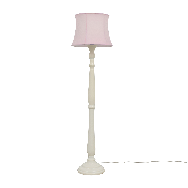 Pottery Barn Payton Floor Base Lamp with Pink Shade / Decor