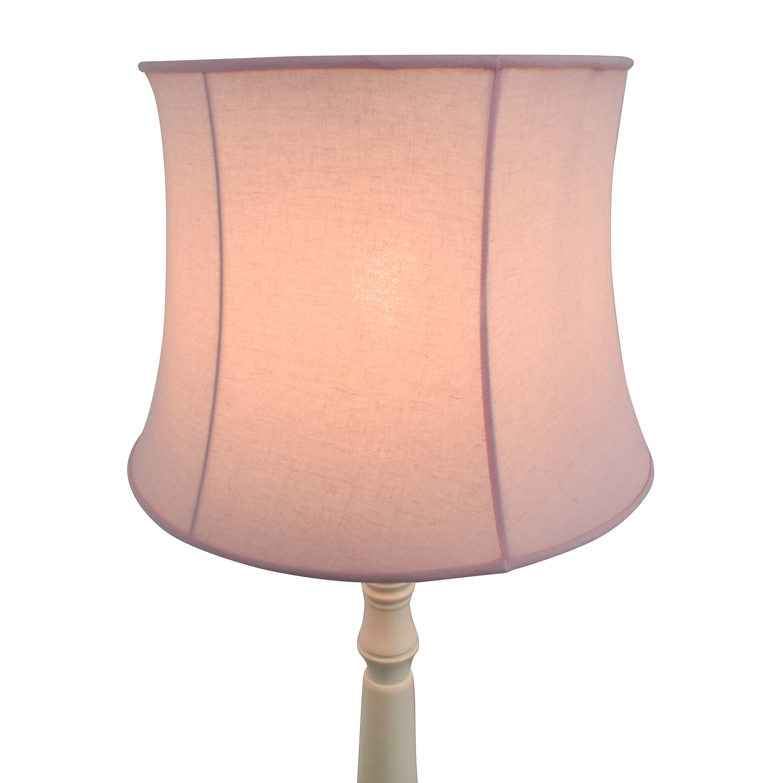 Pottery Barn Pottery Barn Payton Floor Base Lamp with Pink Shade Lamps