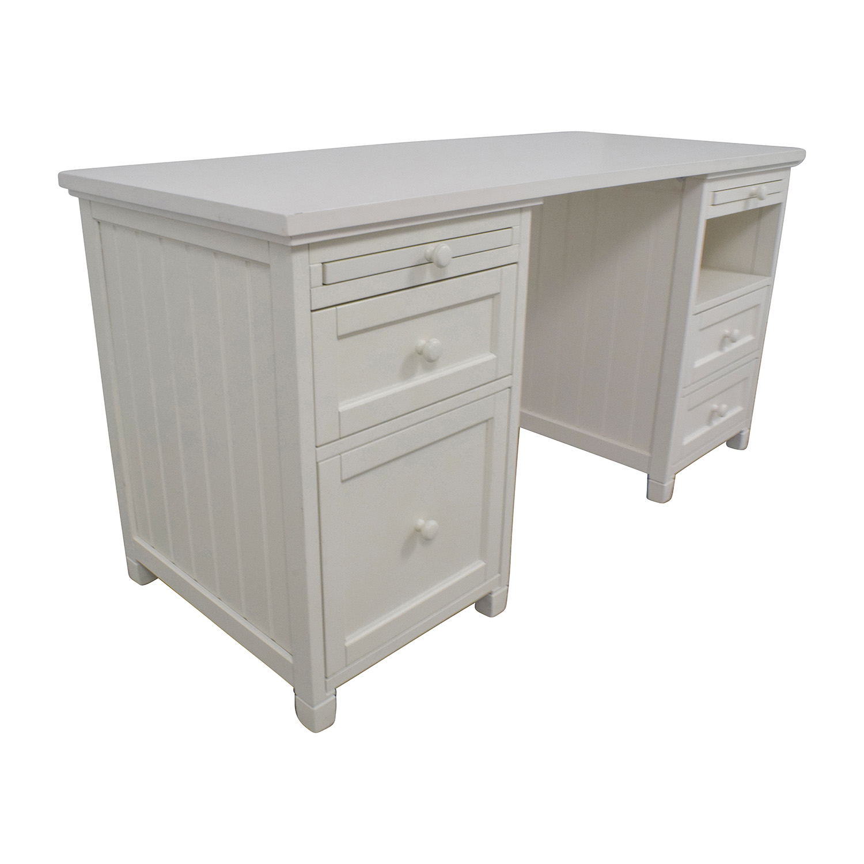 shop Pottery Barn Pottery Barn Off-White Four-Drawer Desk online