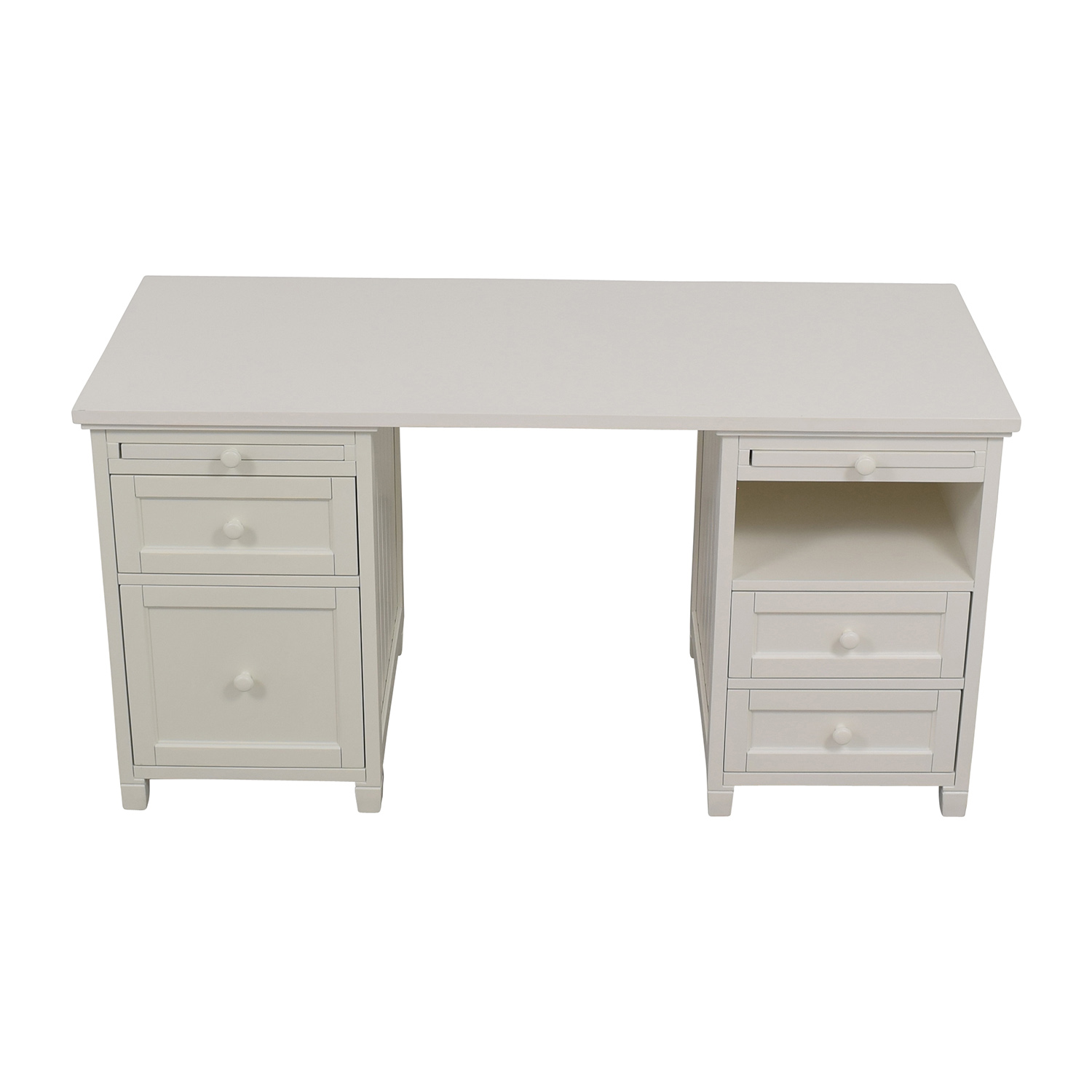 Pottery Barn Pottery Barn Off-White Four-Drawer Desk