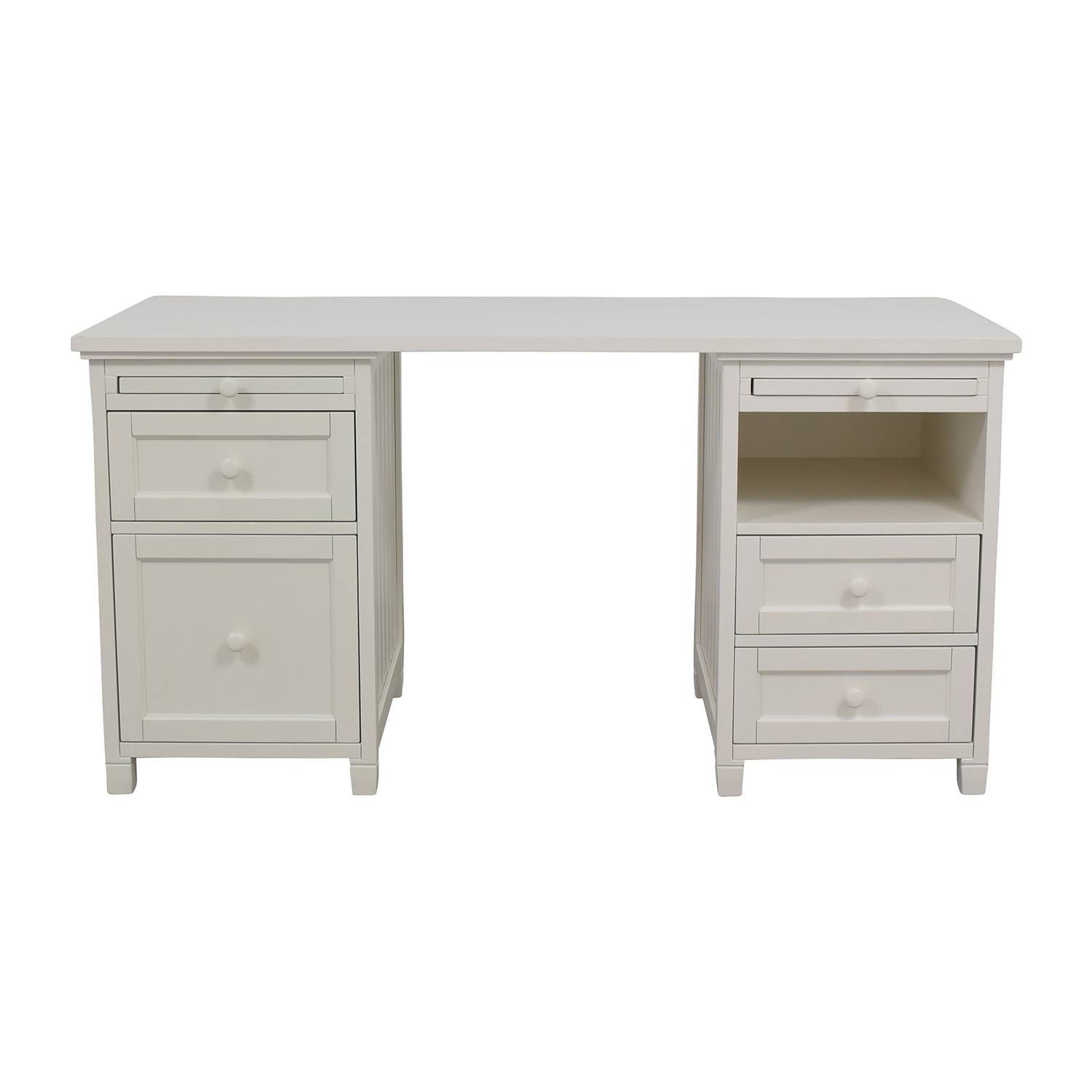 Pottery Barn Off White Four Drawer Desk