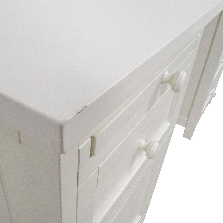 Pottery Barn Off-White Four-Drawer Desk / Home Office Desks