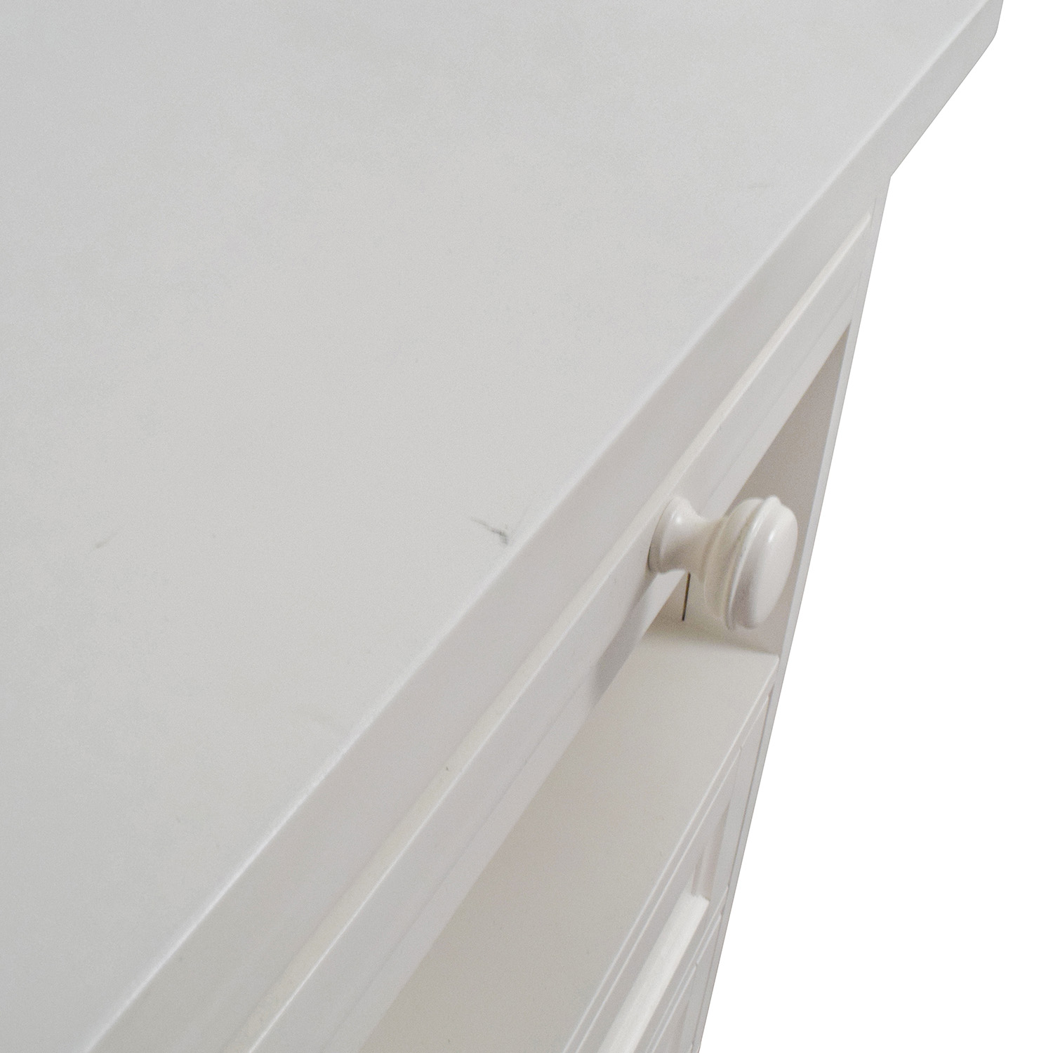 shop Pottery Barn Off-White Four-Drawer Desk Pottery Barn Tables
