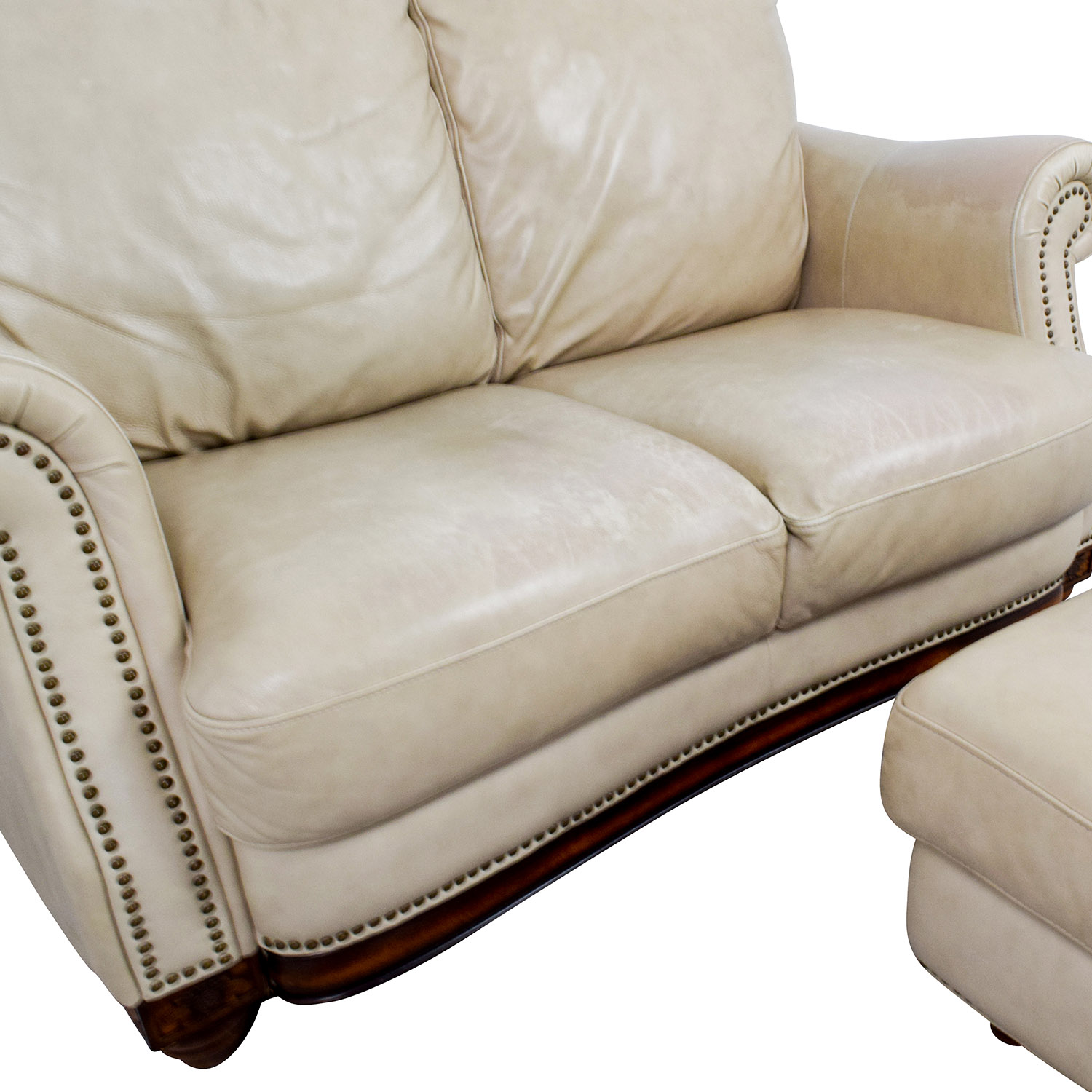 74 off raymour flanigan raymour flanigan studded for Studded leather sofa