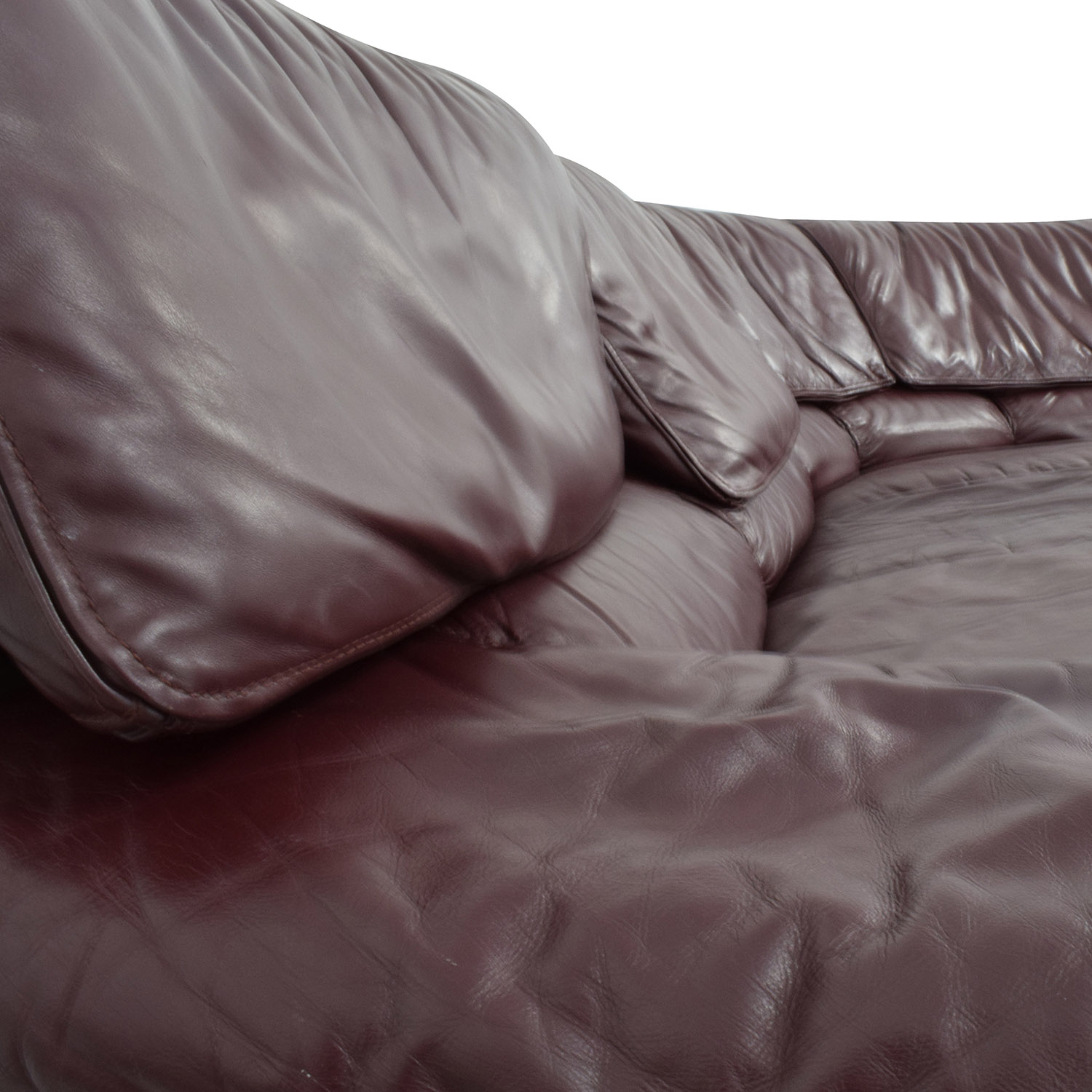 Roche Bobois Brown Leather Sectional / Sectionals