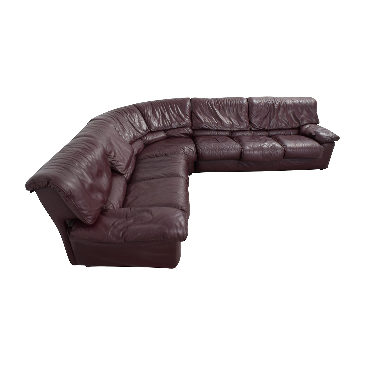 Roche Bobois Roche Bobois Brown Leather Sectional nyc