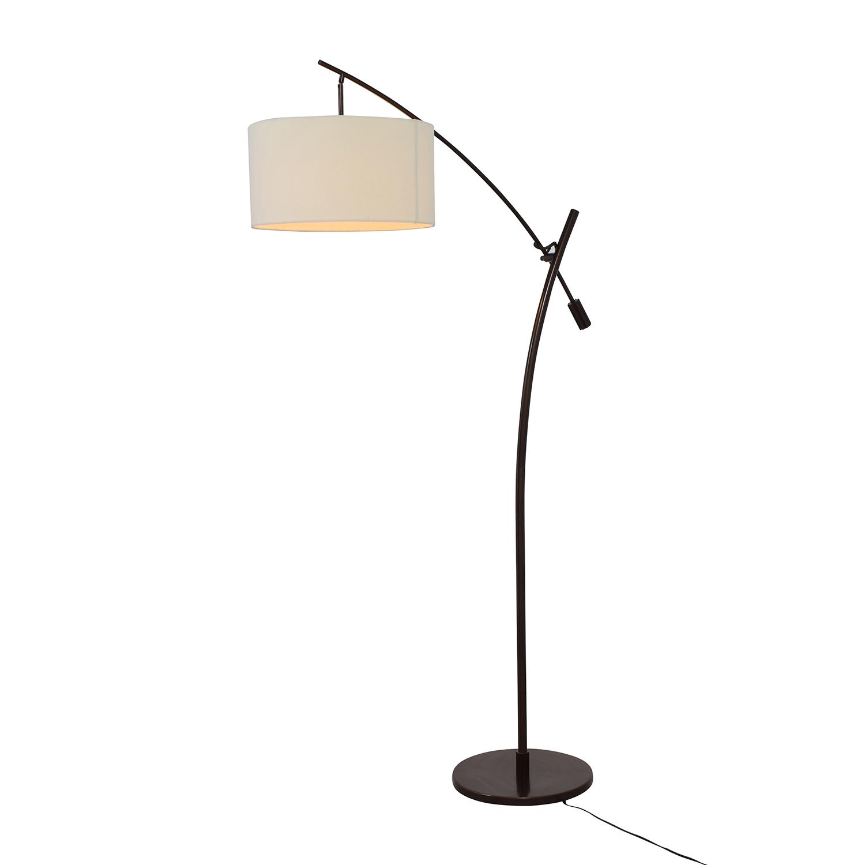 Levar Levar Bronze Boom Arc Floor Lamp with Linen Shade discount
