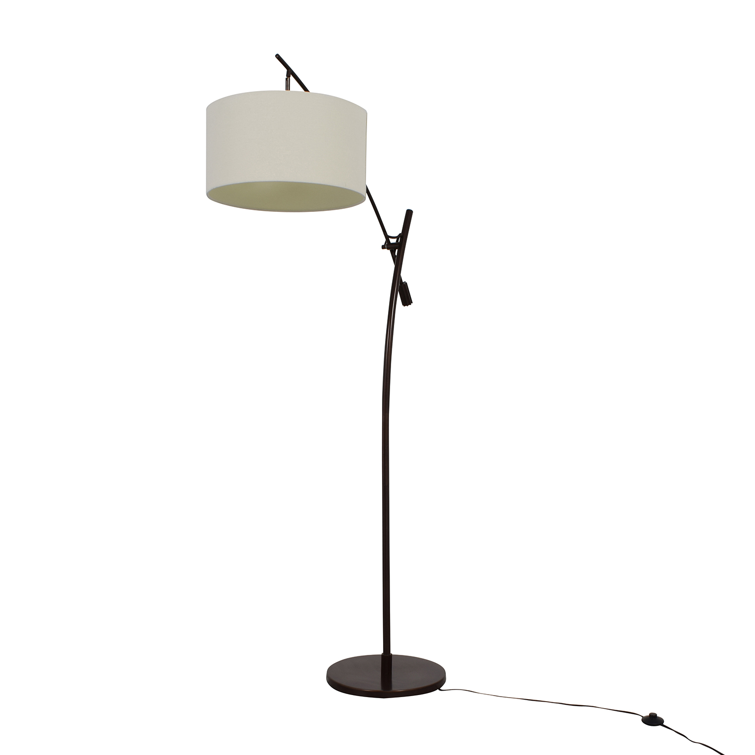 Levar Levar Bronze Boom Arc Floor Lamp With Linen Shade On Sale ...