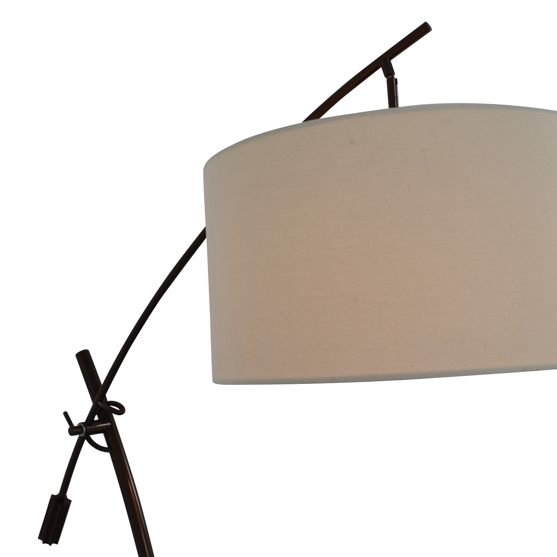 shop Levar Bronze Boom Arc Floor Lamp with Linen Shade Levar Decor
