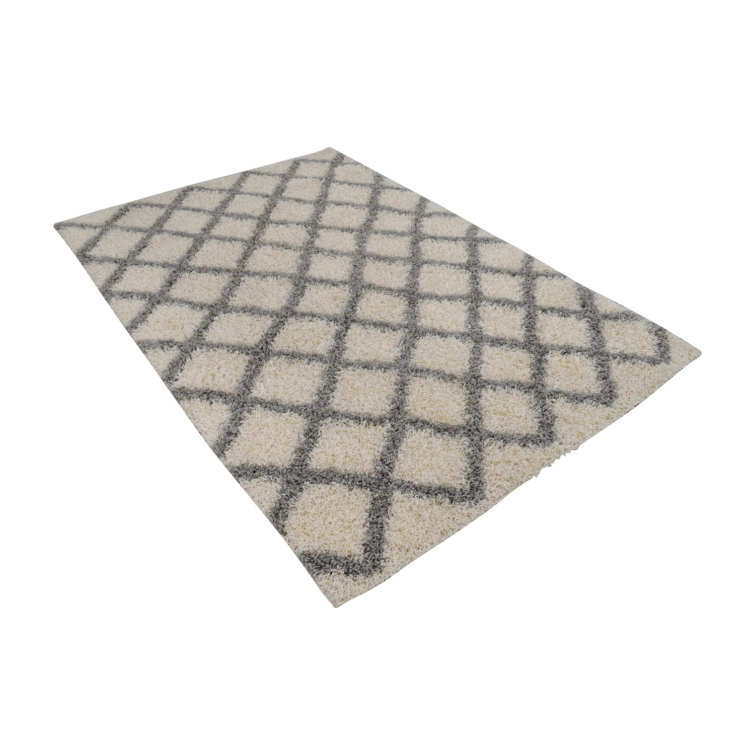 Safavieh Safavieh Dallas Shag Ivory and Grey Trellis Rug