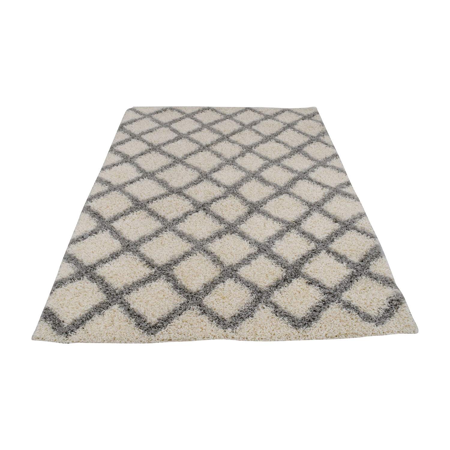 Safavieh Dallas Shag Ivory and Grey Trellis Rug sale