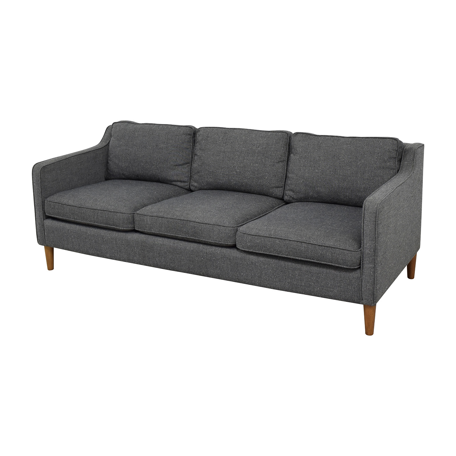 48 off west elm west elm hamilton sofa in tweed sofas for Sectional sofa bed hamilton