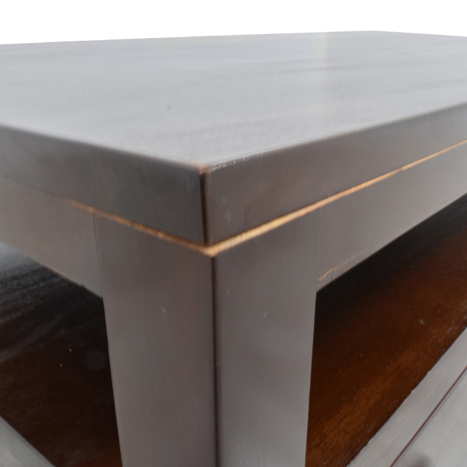 Daria Daria Brown Wood Coffee Table with Three Drawers on sale
