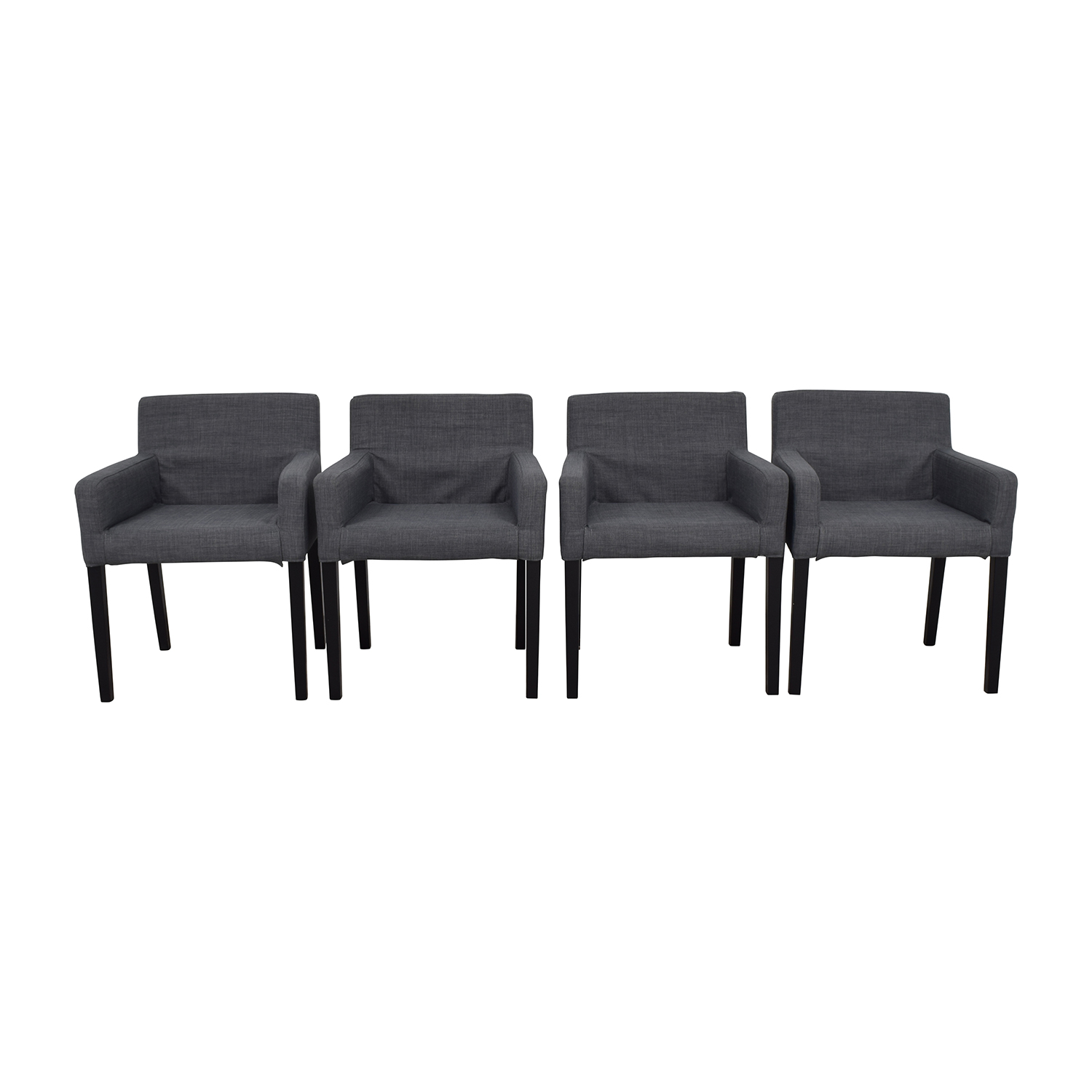47% OFF - IKEA IKEA Nils Grey Fabric Dining Room Chairs / Chairs