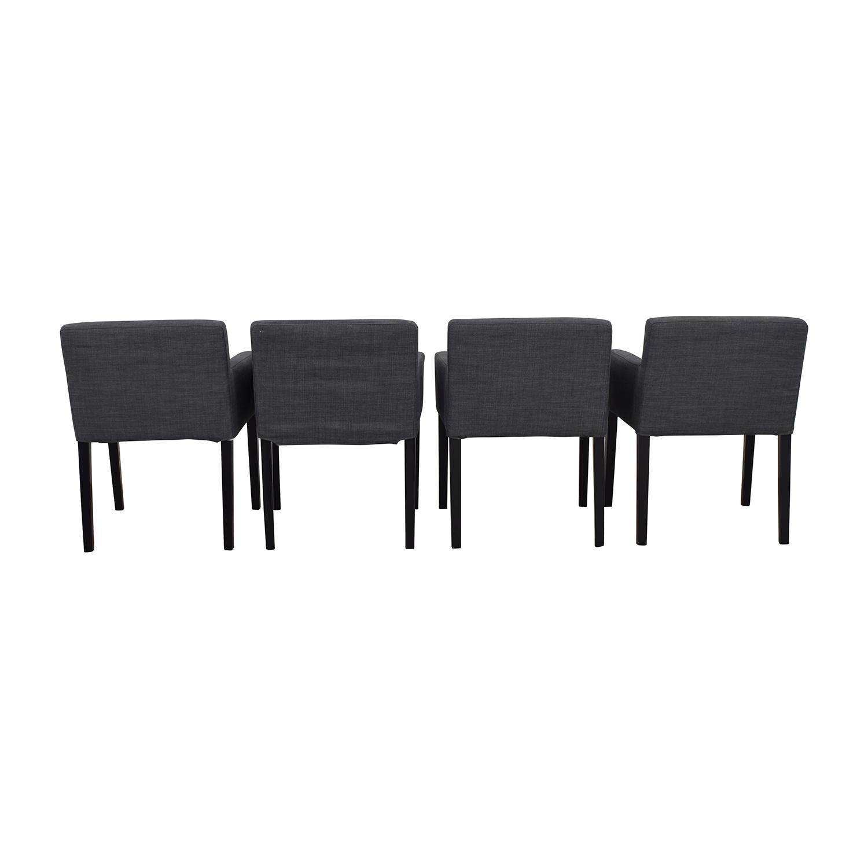IKEA IKEA Nils Grey Fabric Dining Room Chairs nj