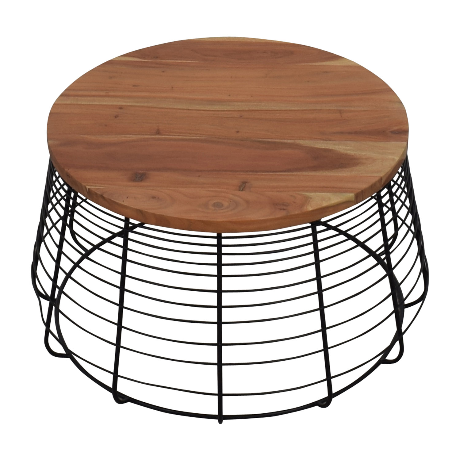 shop CB2 Round Wire Coffee Table CB2 Coffee Tables