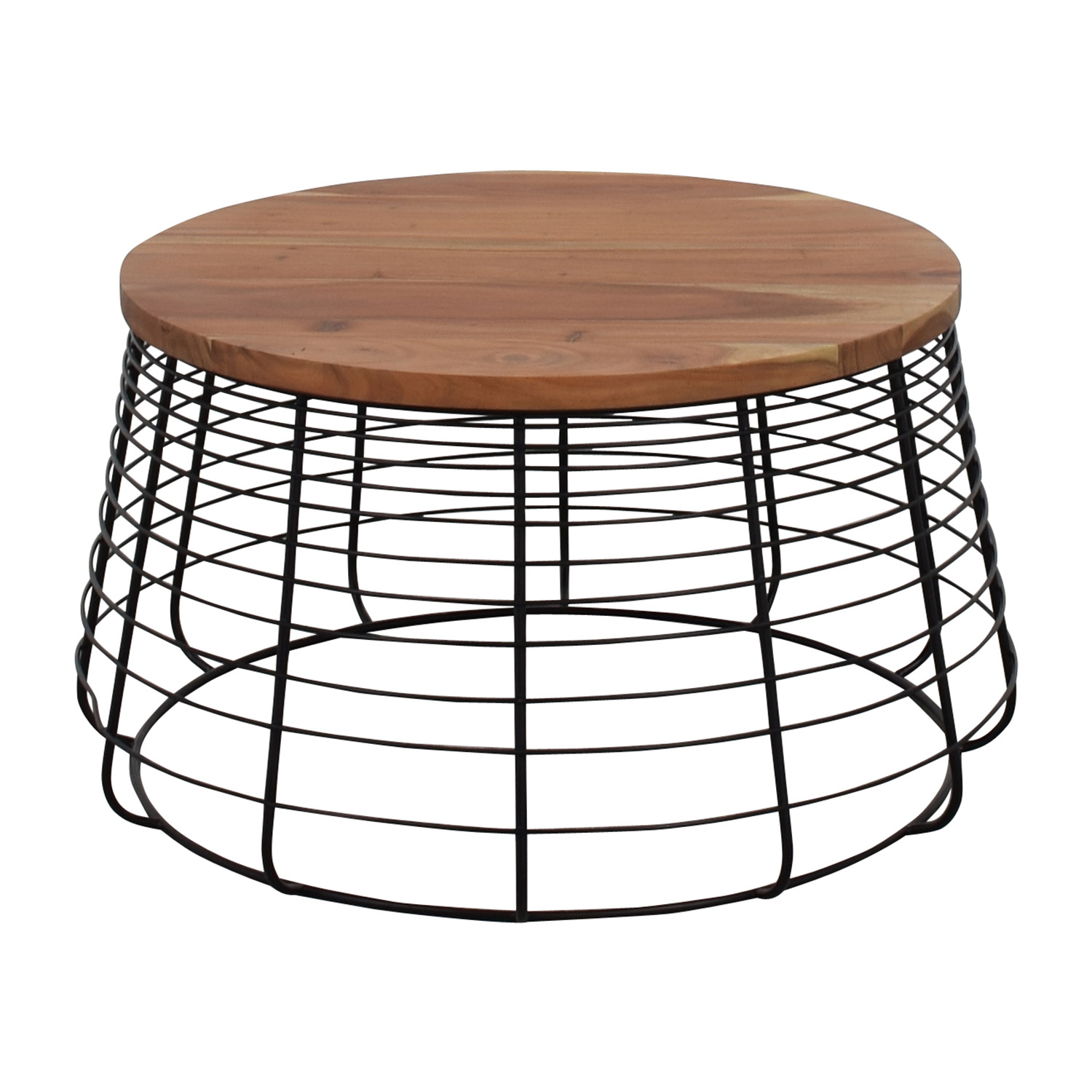 CB2 Round Wire Coffee Table sale