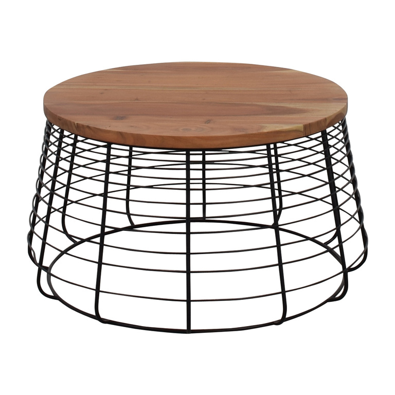 shop CB2 Round Wire Coffee Table CB2