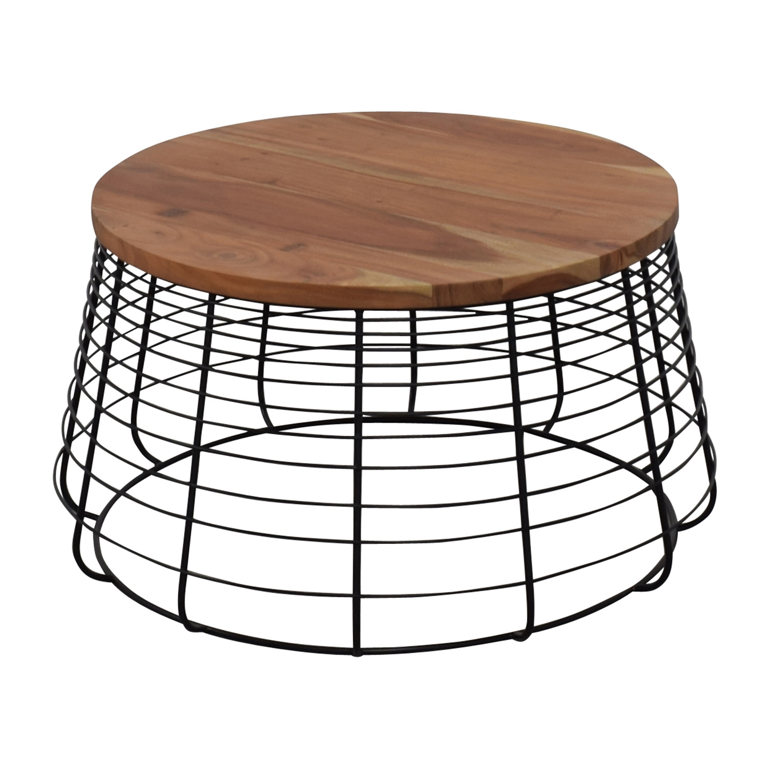 72% OFF - CB2 CB2 Round Wire Coffee Table / Tables