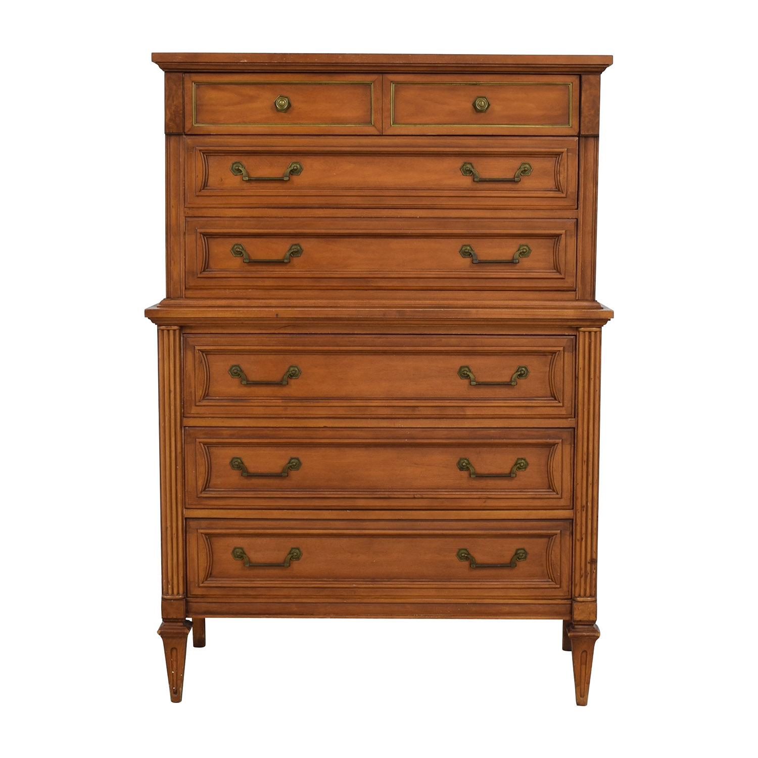 Vintage All-Wood Six-Drawer Dresser on sale