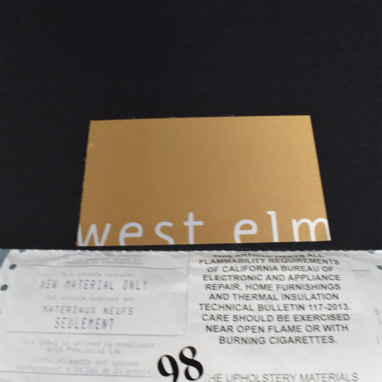 West Elm West Elm Bliss Steel Blue Velvet Lounge Chaise price