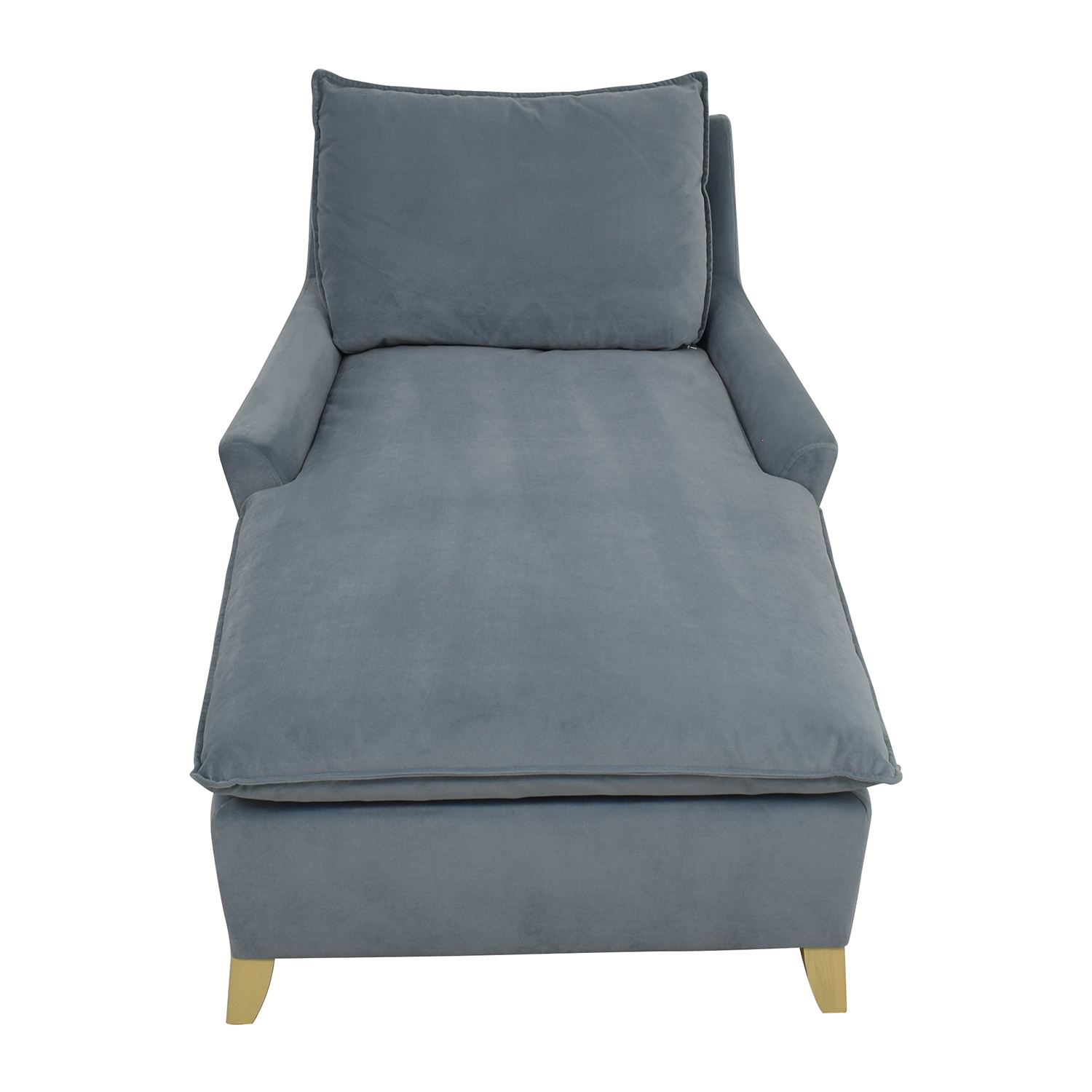 West Elm West Elm Bliss Steel Blue Velvet Lounge Chaise price