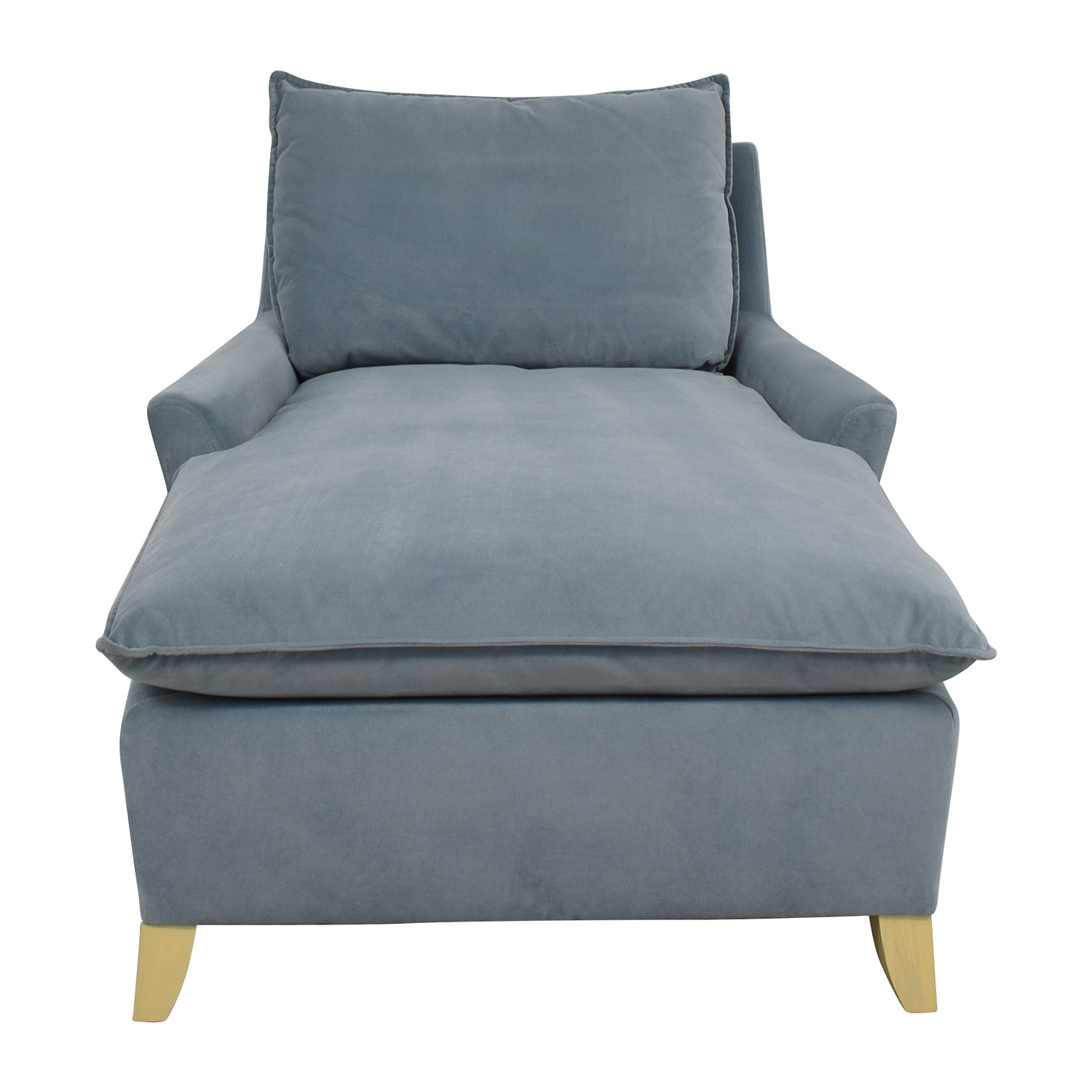 shop West Elm Bliss Steel Blue Velvet Lounge Chaise West Elm Chaises