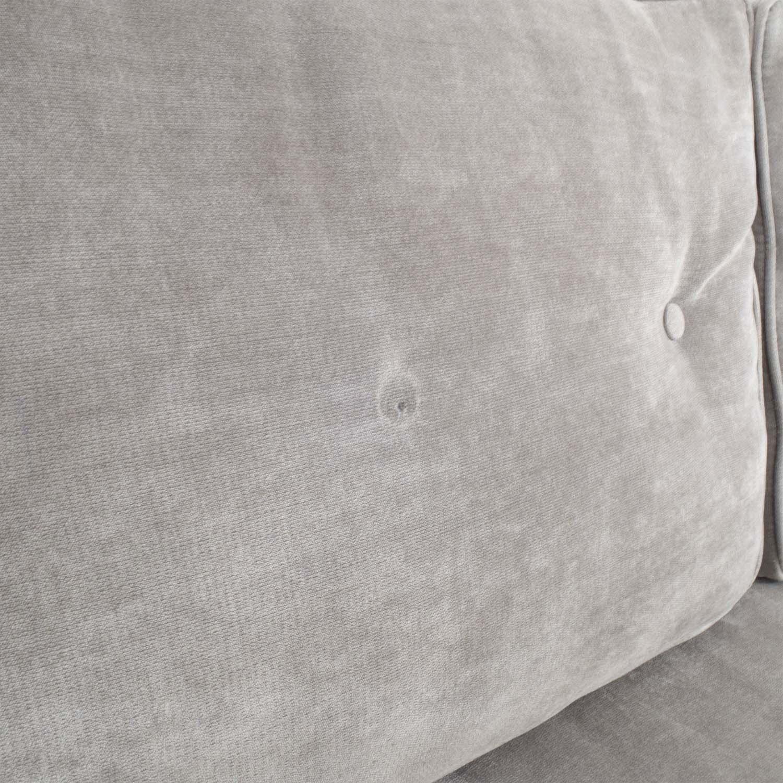 buy ZGallerie Tufted Grey Sofa ZGallerie Sofas