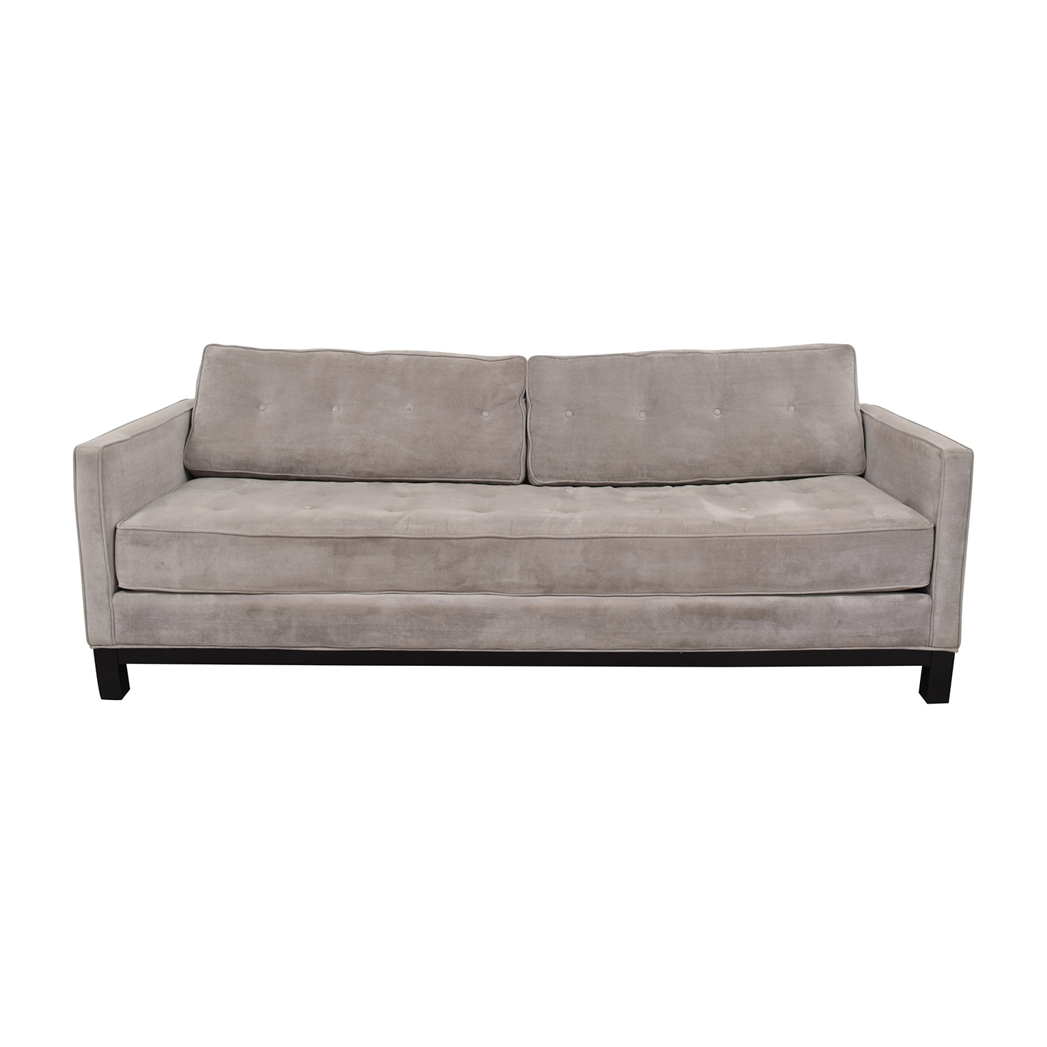 buy ZGallerie ZGallerie Tufted Grey Sofa online