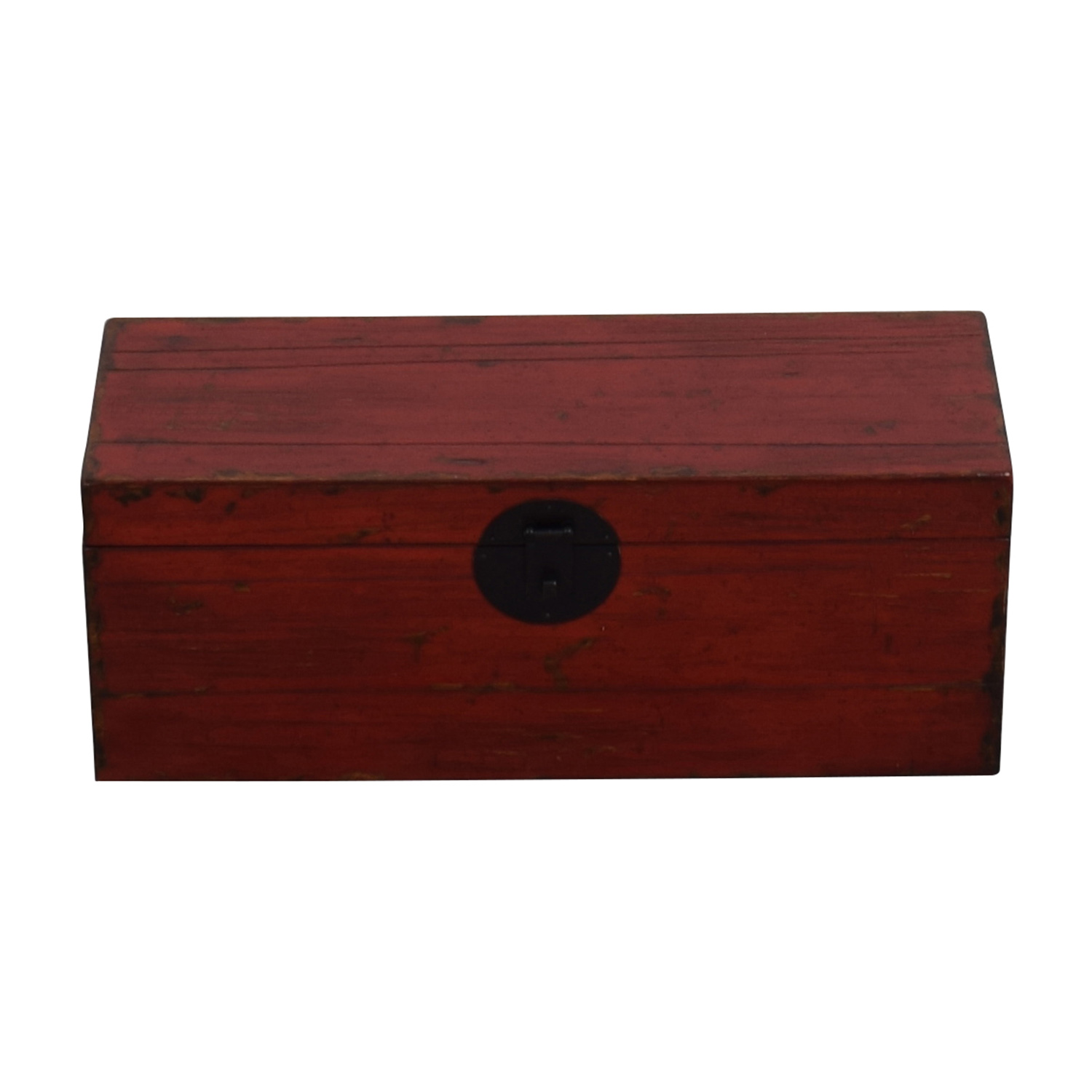 buy Asian Style Red Rustic Trunk Storage