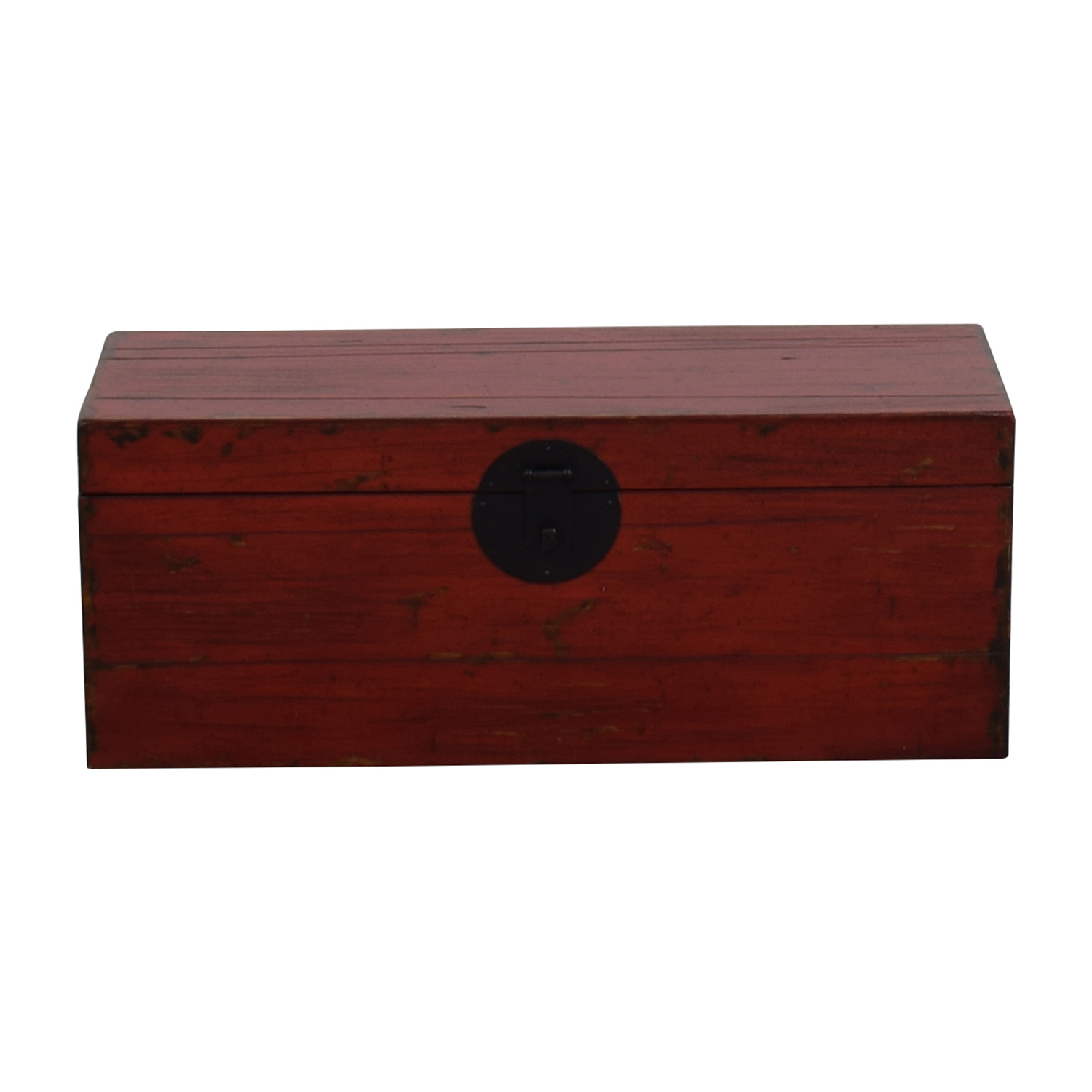 76 Off Asian Style Red Rustic Trunk Storage
