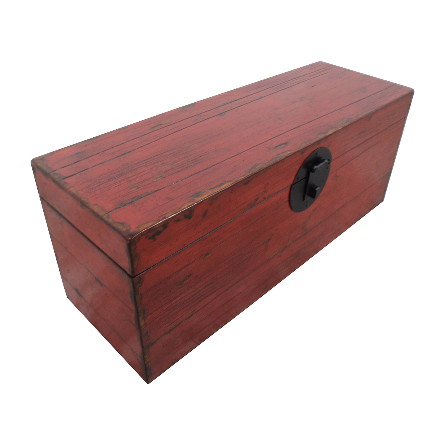 Asian Style Red Rustic Trunk on sale