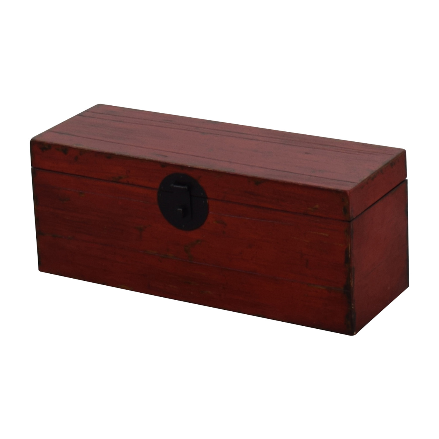 Asian Style Red Rustic Trunk discount